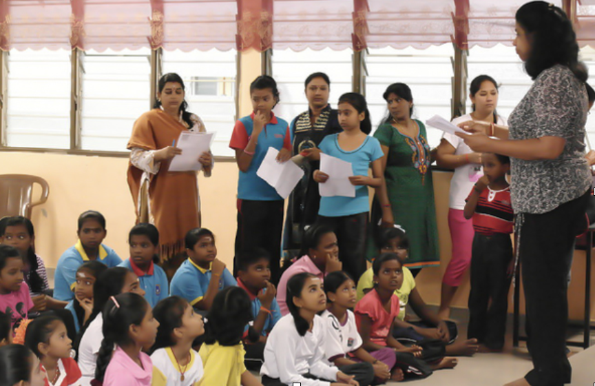 On audition day, children submitting their names for Indian Classical dance classes.