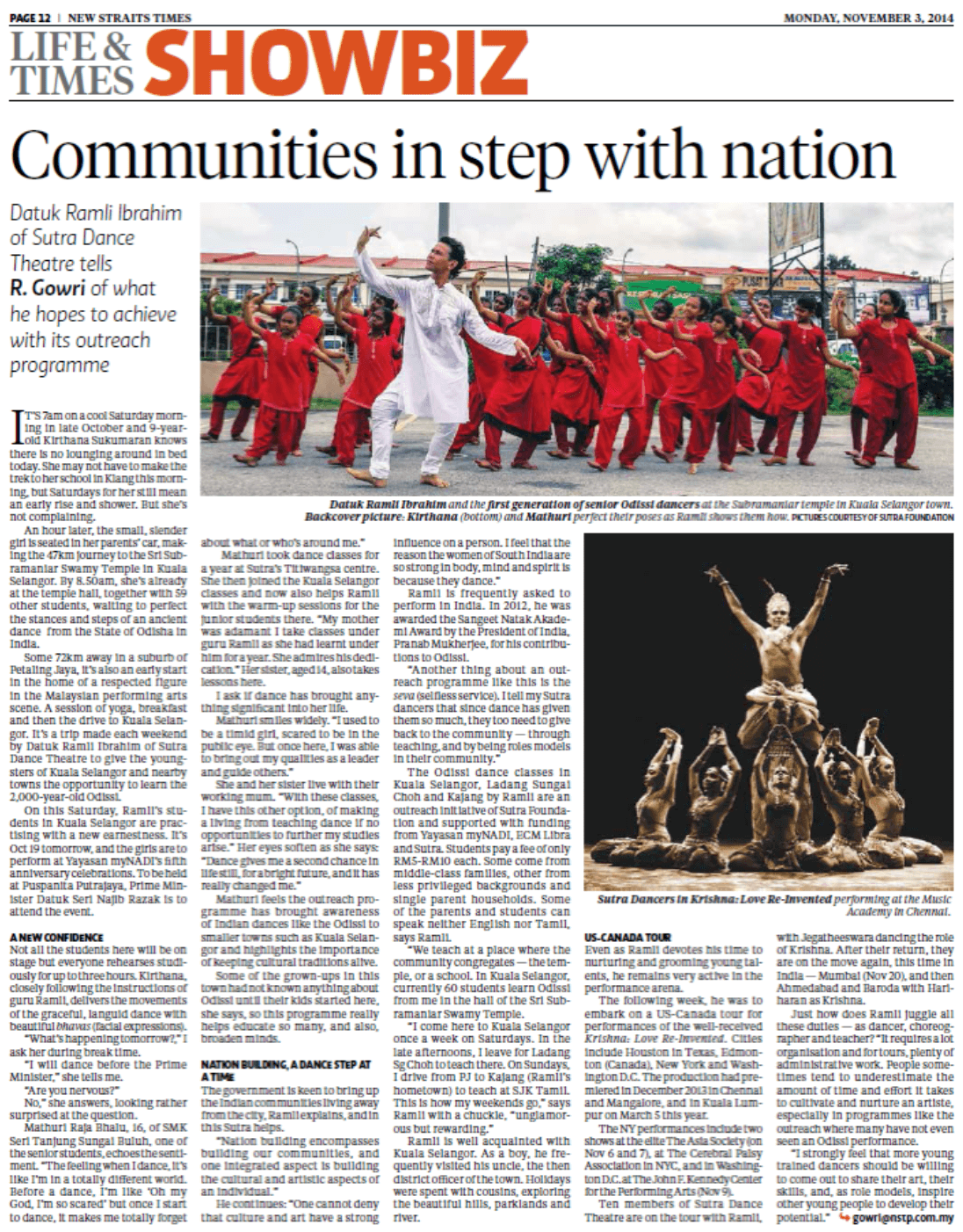 Communities in step with nation