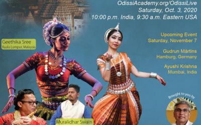 "Geethika Sree, Principal Dancer of Sutra Foundation performs for ""Oh, Odissi! One-World"""